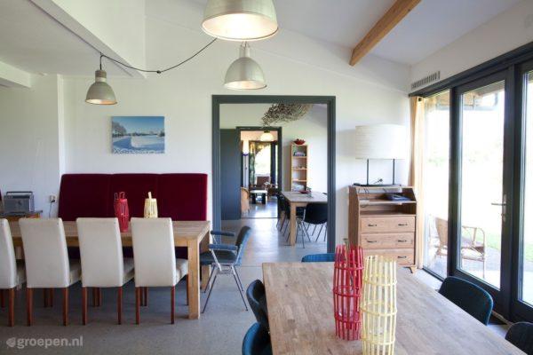 Groepsaccommodatie Waarland - Nederland - Noord-Holland - 30 personen - eettafel